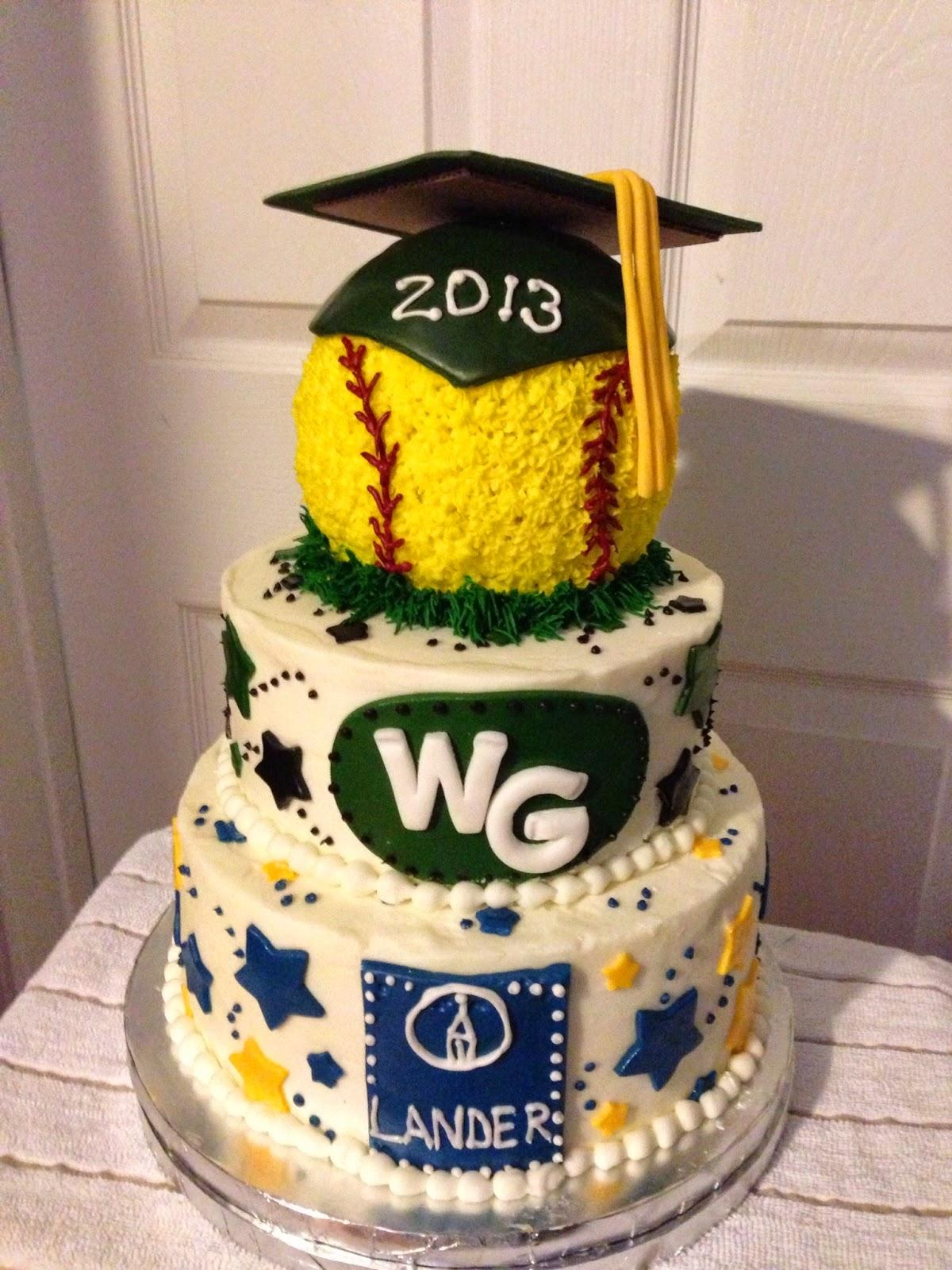 Softball Graduation Cakes with a Theme