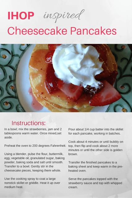 Strawberry Cheesecake Pancakes Ihop Recipe
