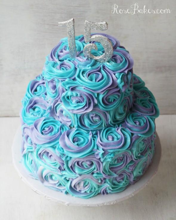 10 Photos of Teal Buttercream Cakes