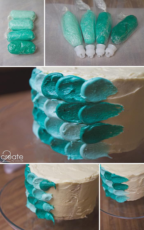 Teal Petals Cake