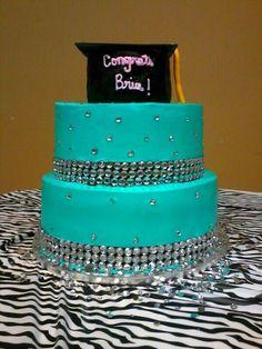 Tiffany Blue Graduation Cake