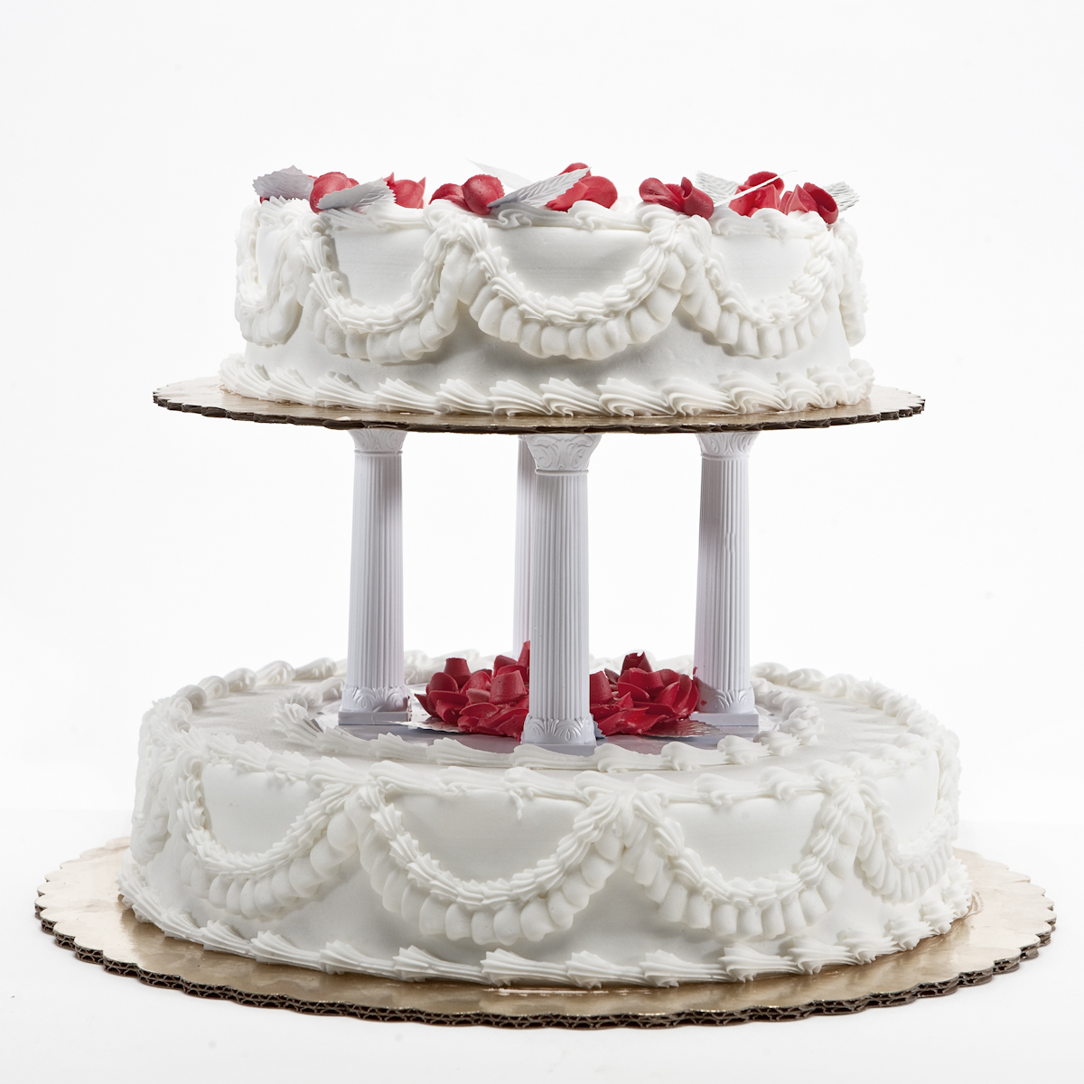 Traditional Two Tier Wedding Cake