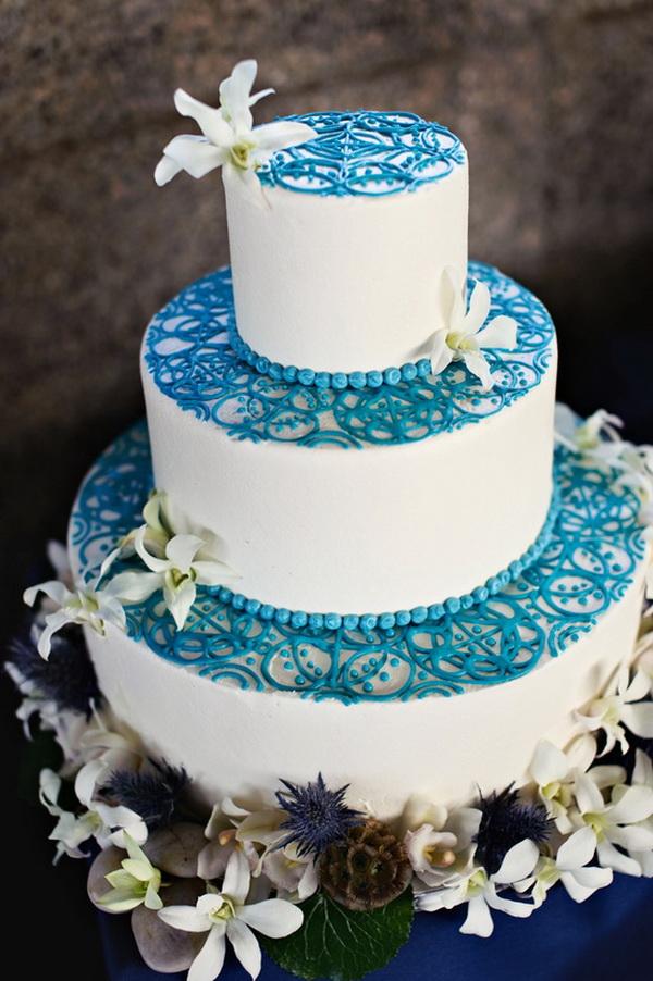 Unique Wedding Cake Blue