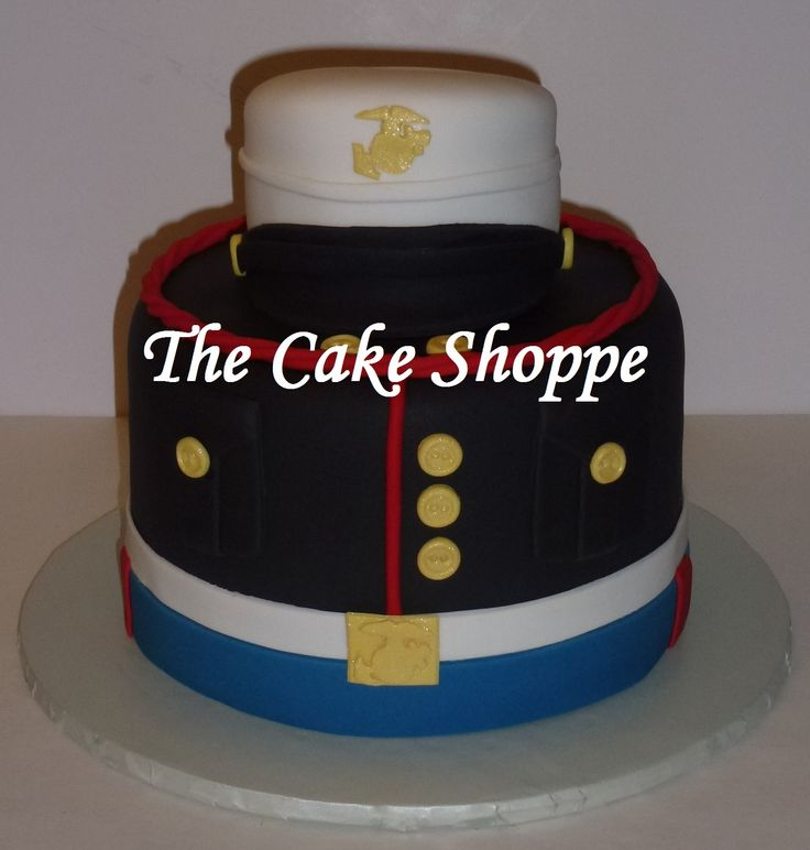US Marines Uniform Cake