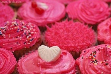 Valentine Cupcakes Pink