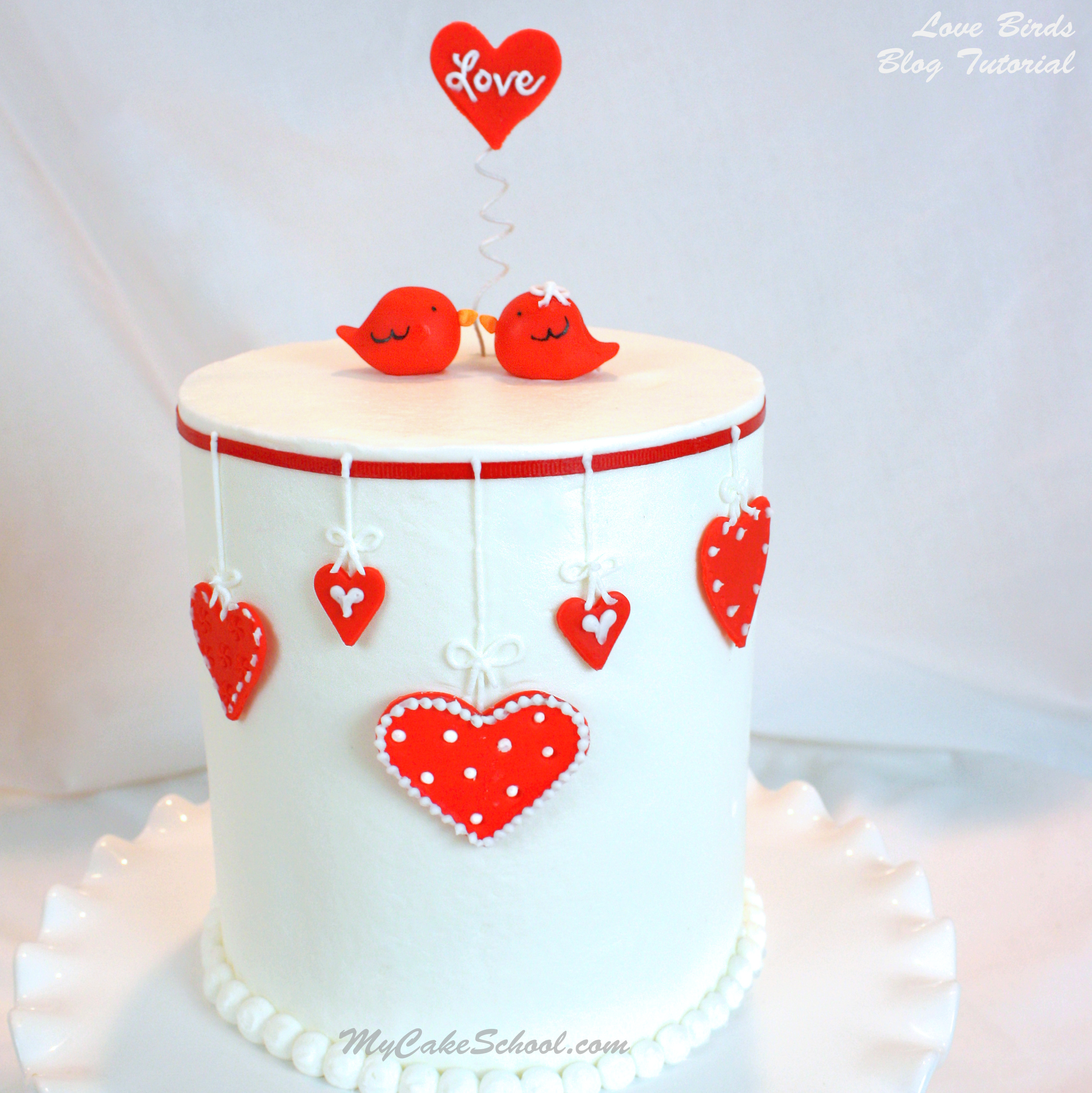 Valentine's Love Birds Cake