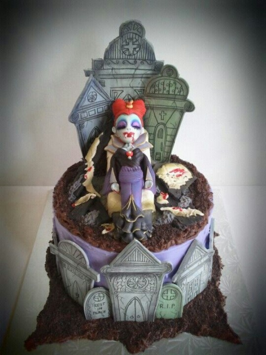 Vampire Halloween Birthday Cakes