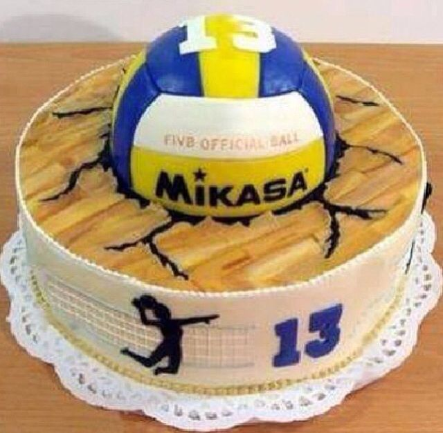 Excellent 13 Volleydall Birthday Cakes From Albertsons Photo Volleyball Personalised Birthday Cards Beptaeletsinfo