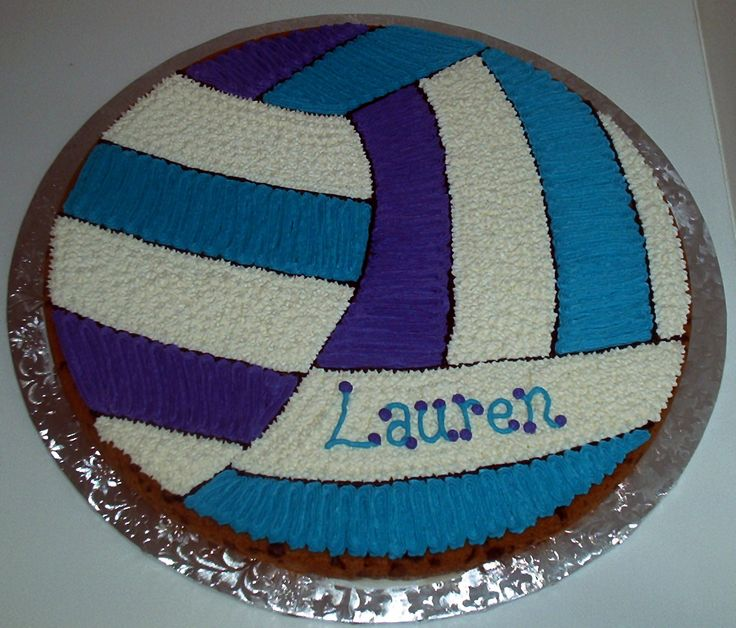 Volleyball Birthday Cookie Cake