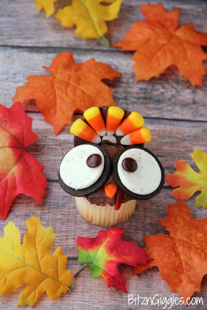 Wide-Eyed Turkey Cupcakes Thanksgiving