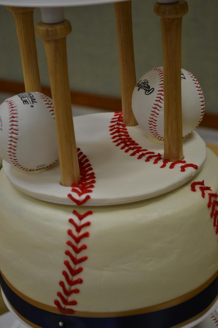3 Tier Wedding Cake Baseball