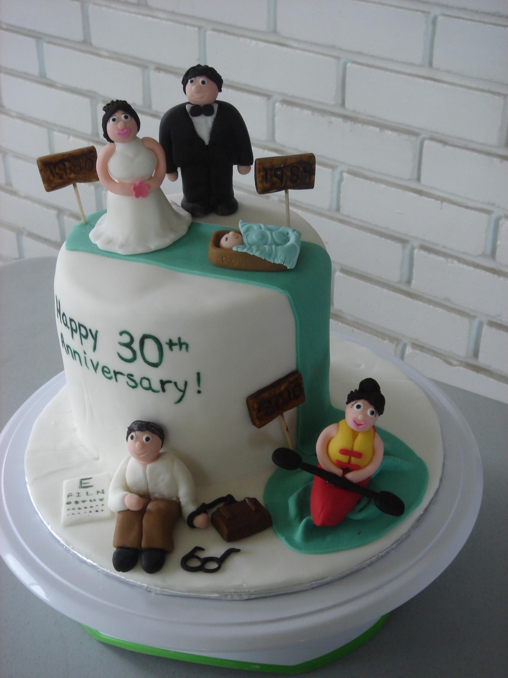 30-Year Anniversary Cake Ideas