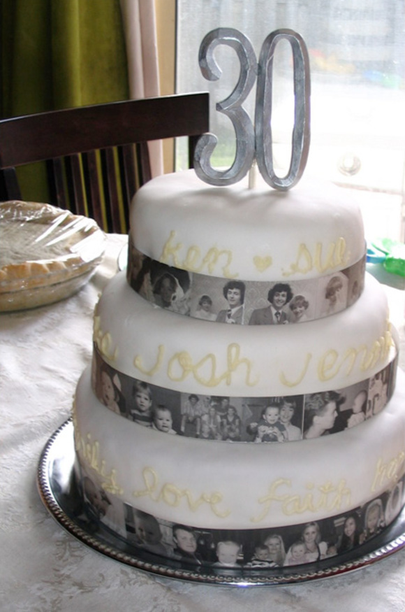 30th Wedding Anniversary Cake Toppers