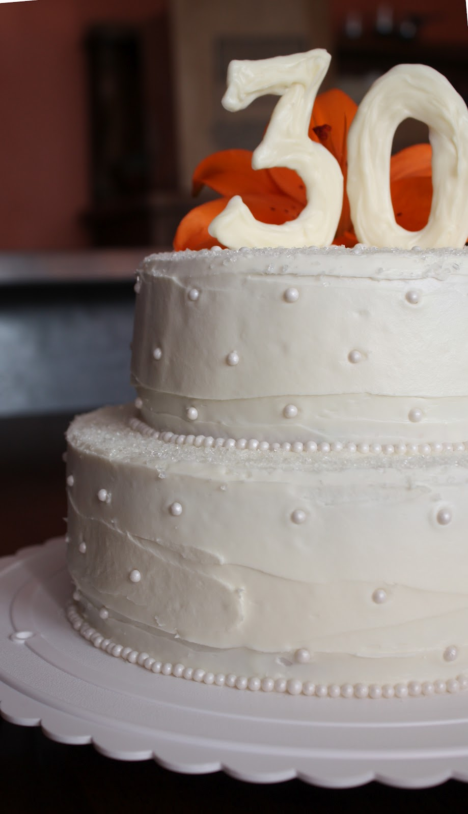 30th Wedding Anniversary Cake