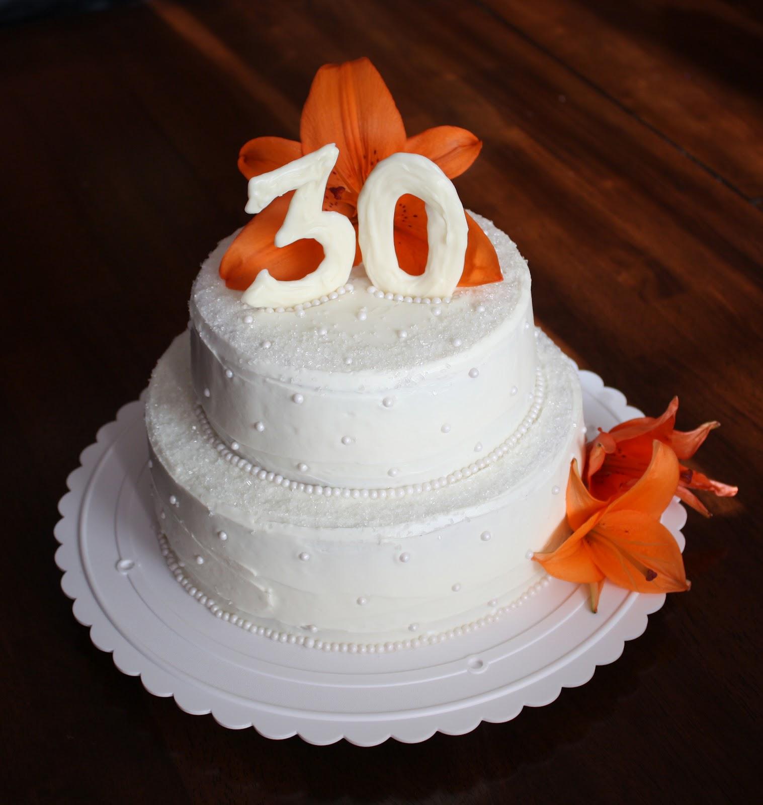 30th Year Wedding Anniversary Cake