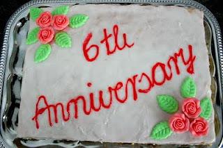 6th Wedding Anniversary Cake