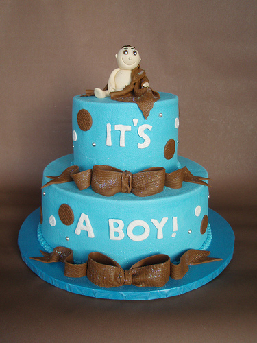 Baby Boy Shower Cake Idea