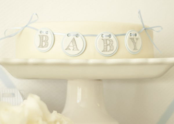 6 Photos of White And Blue Baby Boy Shower Cakes