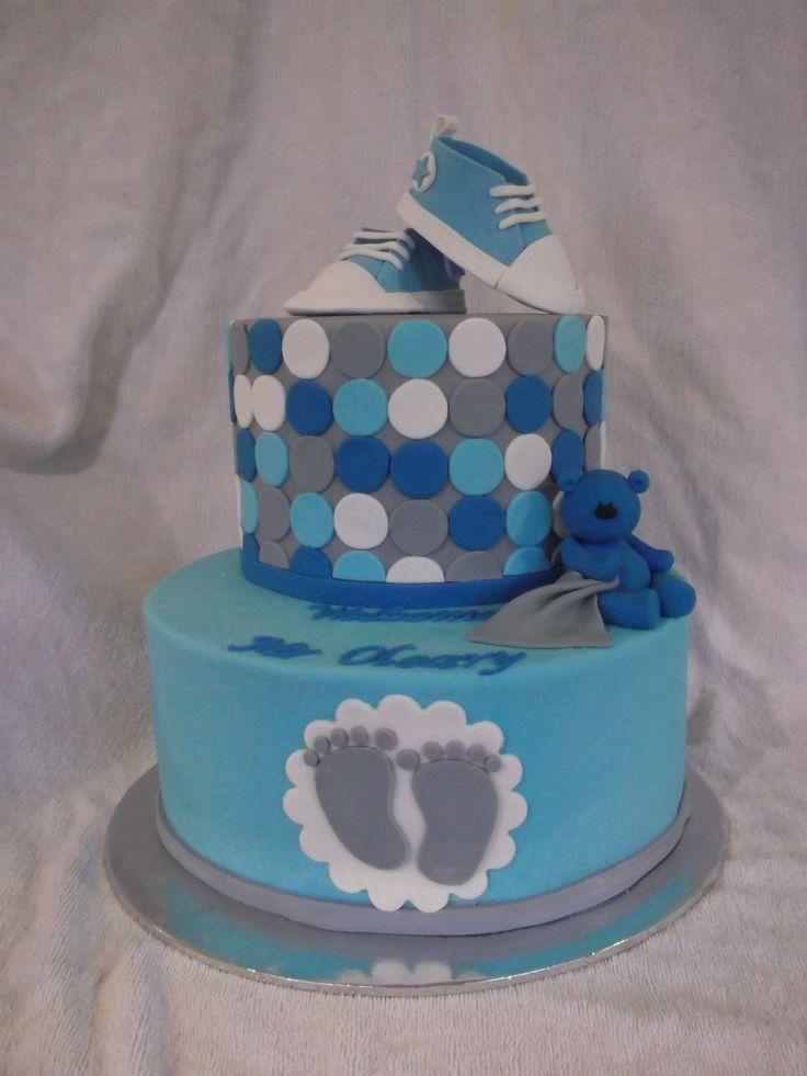Baby Boy Shower Cake Idea