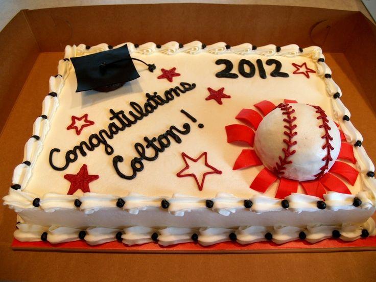 Baseball Graduation Cake Ideas