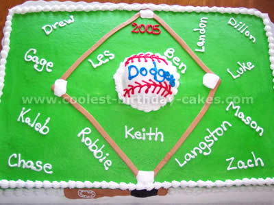 Baseball Team Sheet Cakes