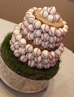Baseball-Themed Wedding Grooms Cake