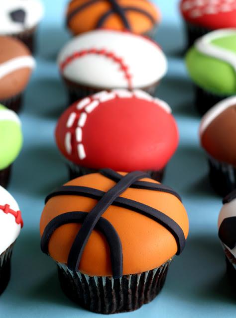 Basketball Ball Cupcakes