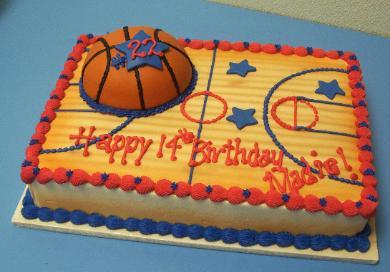 Basketball Birthday Sheet Cakes