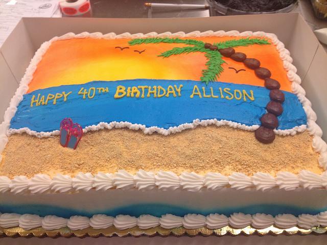 Beach Scene Birthday Cake