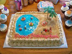 Beach Scene Cake Teddy Grahams