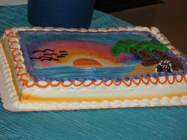 Beach Scene Sheet Cake