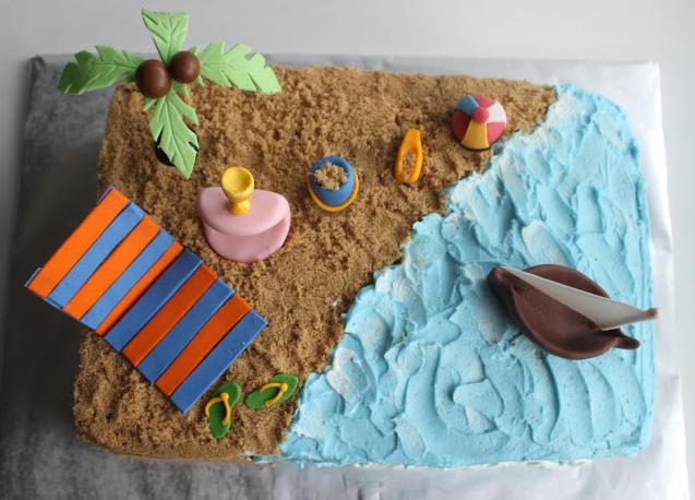 Beach Themed Sheet Cakes