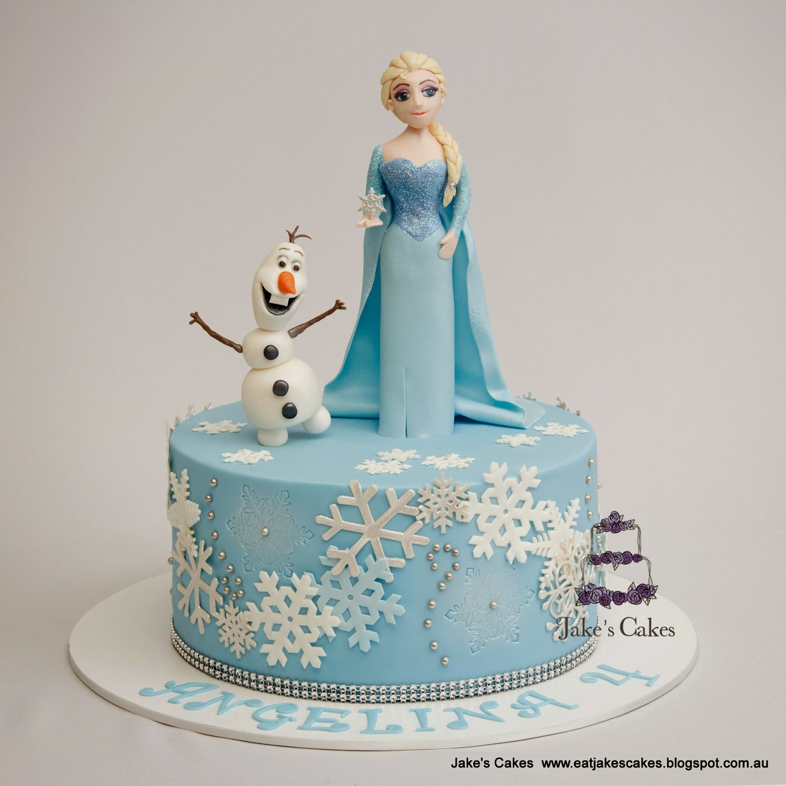 11 Photos of Elsa And Olaf Cakes