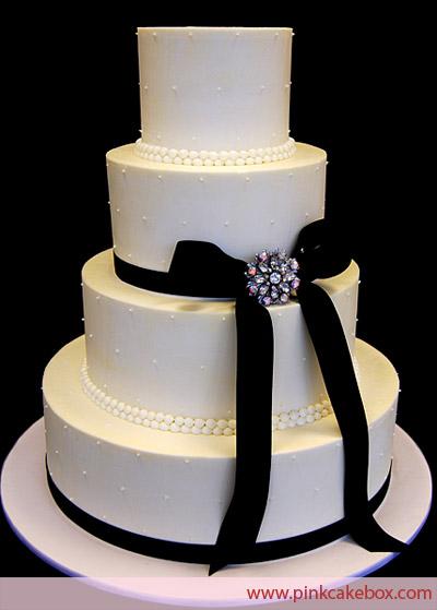 Black Buttercream Wedding Cake