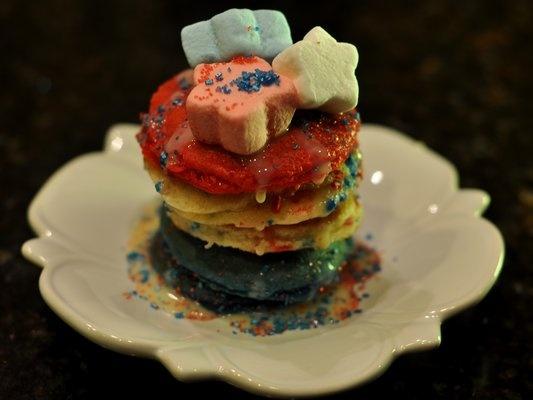 5 Photos of Sprinkles Red White Blue Pancakes