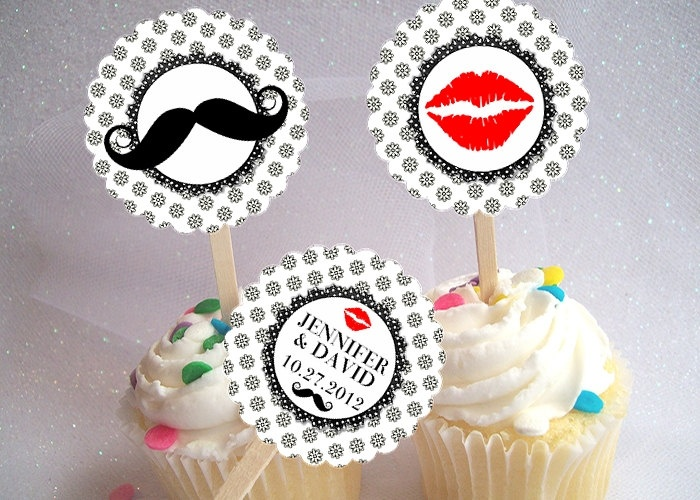 Bridal Shower Cupcake Picks Toppers