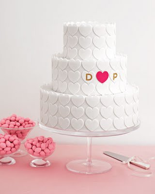 Bridal Shower Heart Cake