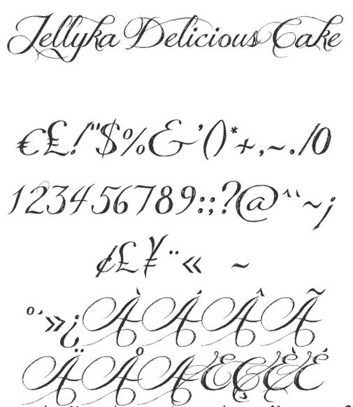 Cake Lettering Fonts