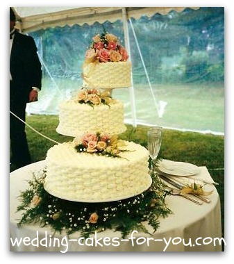 Cascading Wedding Cake Stands