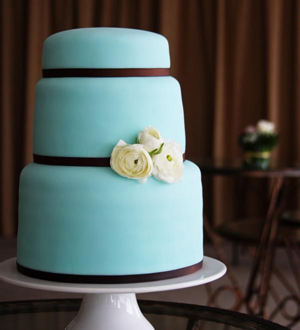 12 Photos of Tiffany Blue Chocolate Brown Wedding Cakes