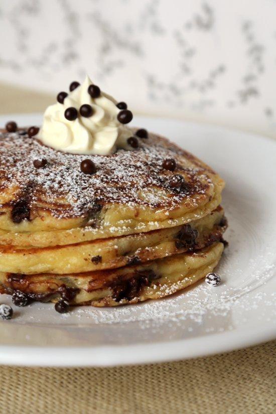 6 Photos of Homemade Chocolate Chip Pancakes