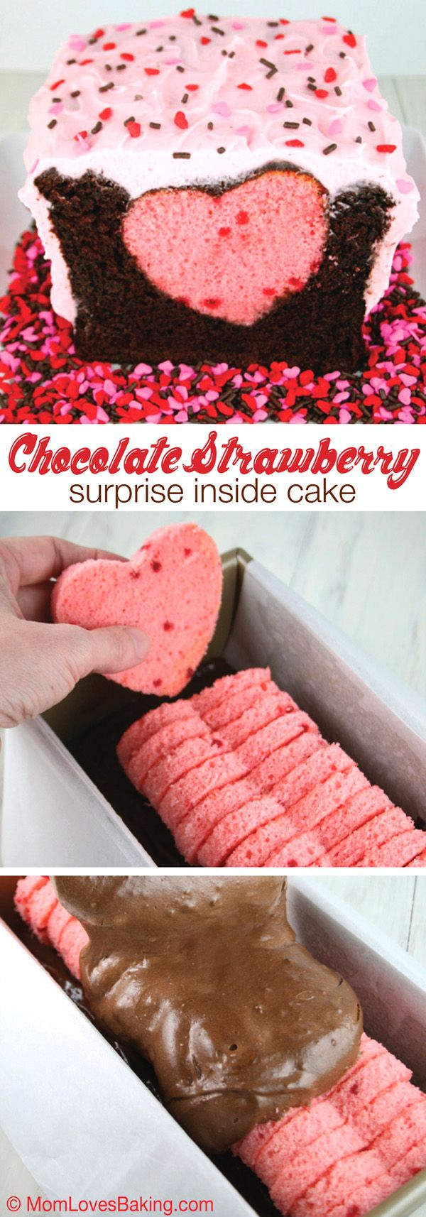 Chocolate Covered Strawberry Cake with Heart