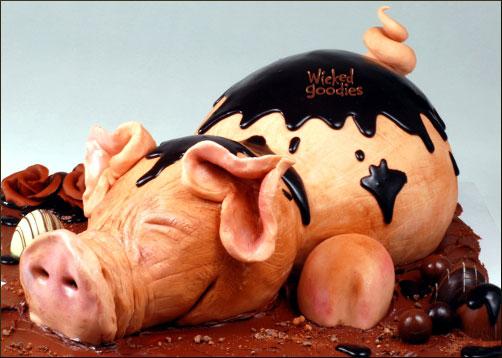 Chocolate Pig Cake