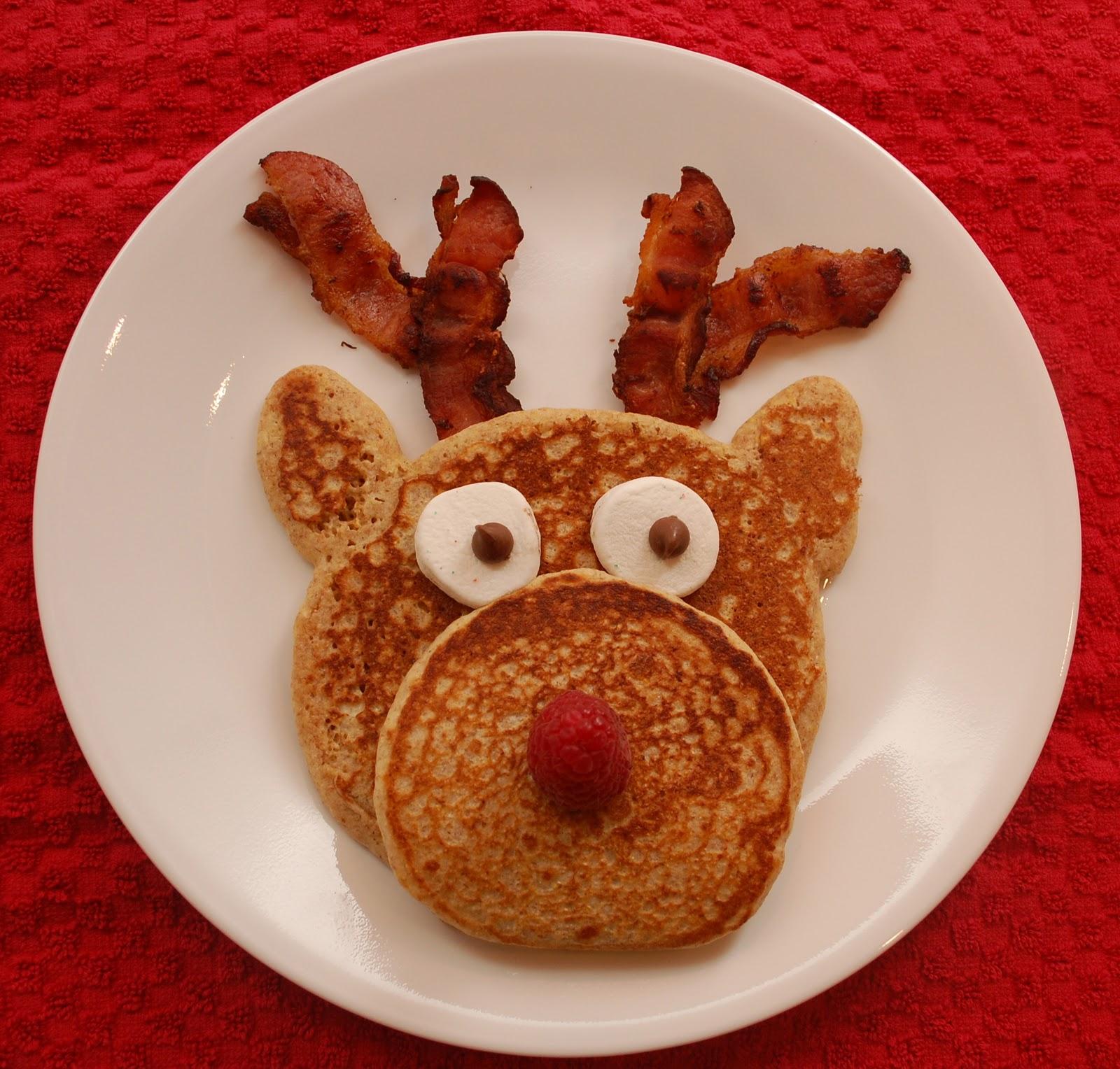 Christmas Reindeer Pancakes