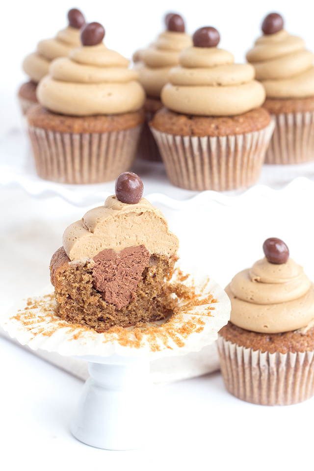 Coffee with Mocha Buttercream Cupcakes