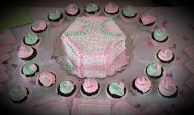 Cupcake Shaped Diaper Cake