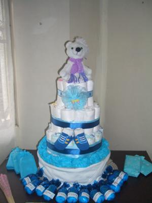 Cute Baby Shower Diaper Cake