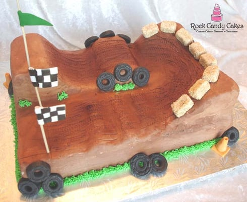 Dirt Bike Track Cake Ideas