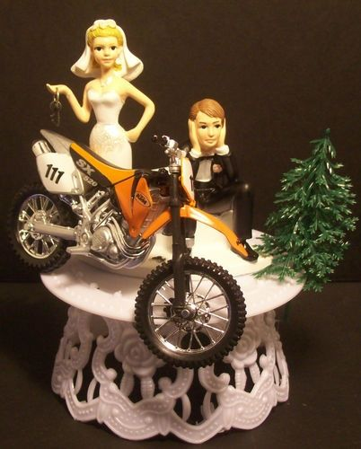 Dirt Bike Wedding Cake Topper