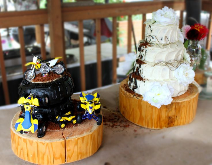 Dirt Bike Wedding Cake